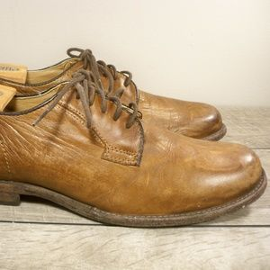 Frye 84570 Phillip Brown Leather Oxfords Mens 10.5